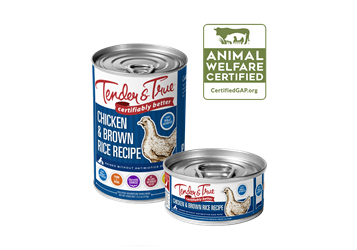 Tender & True Chicken & Brown Rice Recipe for Dogs, 5.5 oz