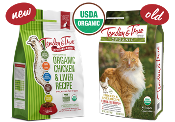 Tender & True Organic Chicken & Liver Recipe for Cats