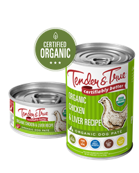 Tender & True Organic Chicken & Liver Recipe for Dogs