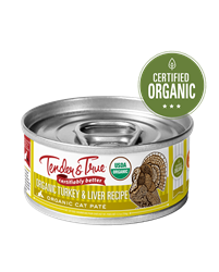 Tender & True Organic Turkey & Liver Recipe for Cats, 5.5 oz